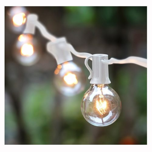50Ft G40 Globe String Lights with Bulbs for Indoor/Outdoor Commercial Decor