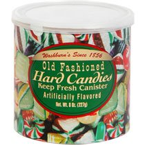 (2 Pack) Washburn's Old Fashioned Hard Candy (8 oz. Canisters)