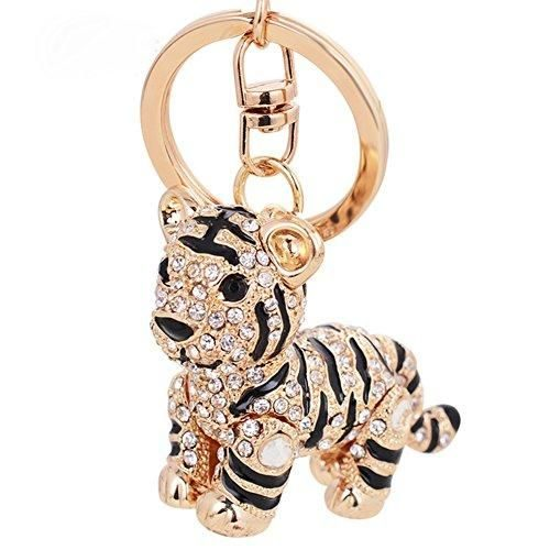 Aibearty Cute Goldfish Crystal Keychain Animal Keyring Car& Bag Accessory Free with Gift Bag