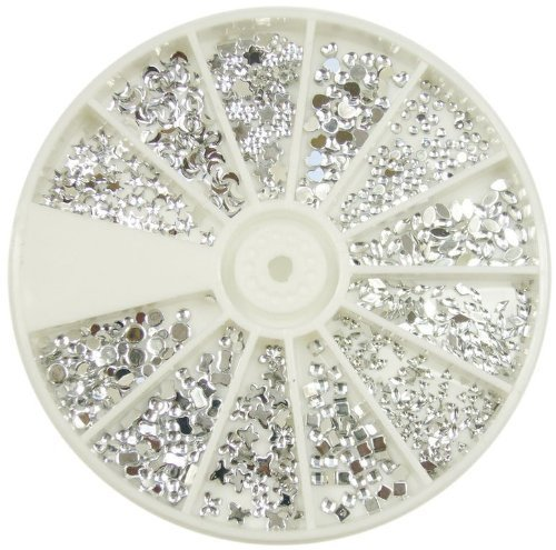 Silver Moon Rhinestone Pack of 1200 Crystal Premium Quality