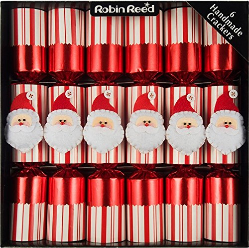 CHRISTMAS CRACKERS - JOLLY SANTA CHRISTMAS CRACKERS - BOX OF SIX - TWO BOXES