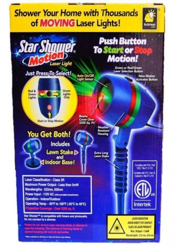 Star Shower As Seen on TV Motion Laser Lights Star Projector-Laser Light Projectors