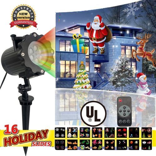 Led Christmas Light Projector with 16 Slides