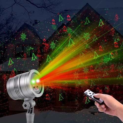 Christmas Laser Lights, Outdoor Projector Lights with Clusters