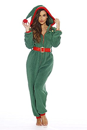 #Followme Adult Christmas Onesie for Women / Sherpa One-Piece Pajamas