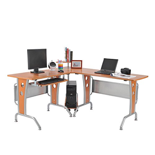 HomCom: L-Shaped Workstation Computer Desk
