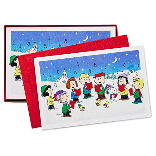 Hallmark Peanuts Gang Boxed Christmas Cards 40 Count