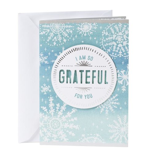 Hallmark Christmas Greeting Card (Grateful For You)