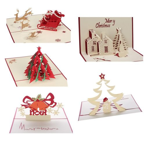 3D Christmas Cards Pop Up Greeting Holiday Cards Gifts for Xmas/New Year