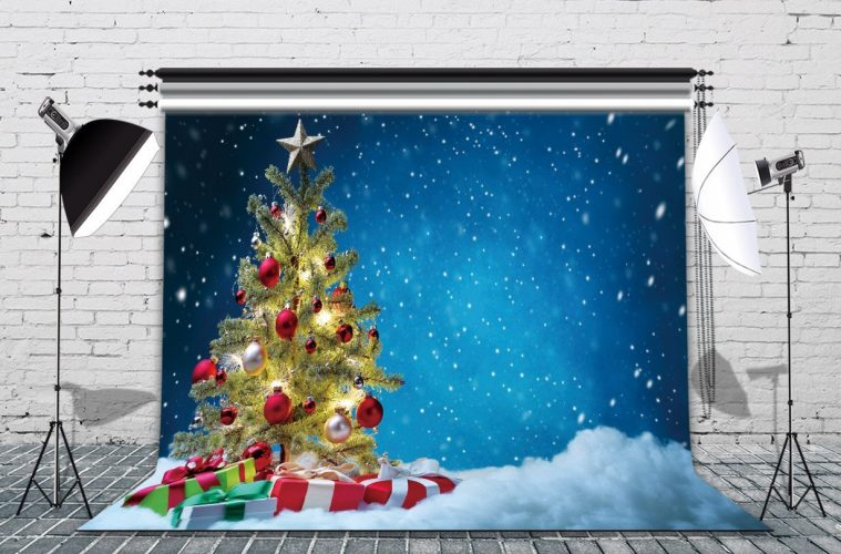 LB 7X5ft Christmas Gift Poly Fabric Photography Background Customized Photography Backdrop Studio Prop DS73