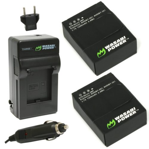 Wasabi Power Battery and Charger - GoPro External Batteries