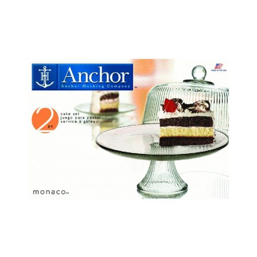 Anchor Hocking Monaco Cake Stand with Dome