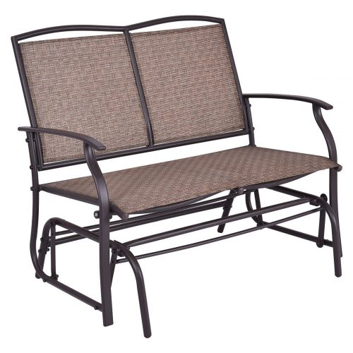 Giantex Swing Loveseat Patio Glider Chair