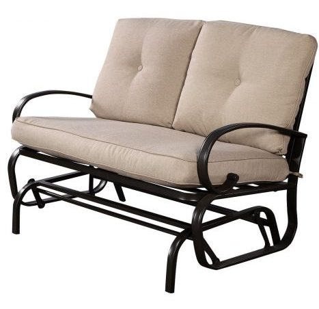 Giantex Cushioned Loveseat Patio Glider