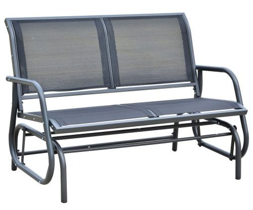 Dark Gray Outsunny Patio Glider