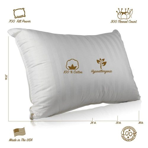 Continental Bedding Hungarian Goose Down Pillow