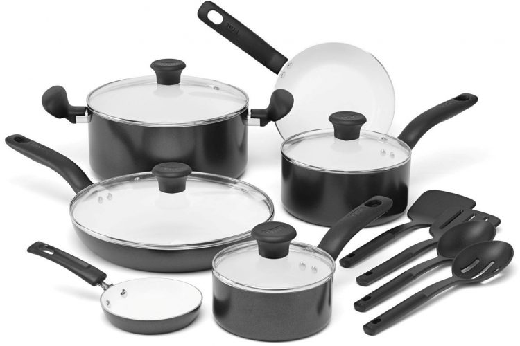 T-fal Initiatives 14-Piece Cookware Set