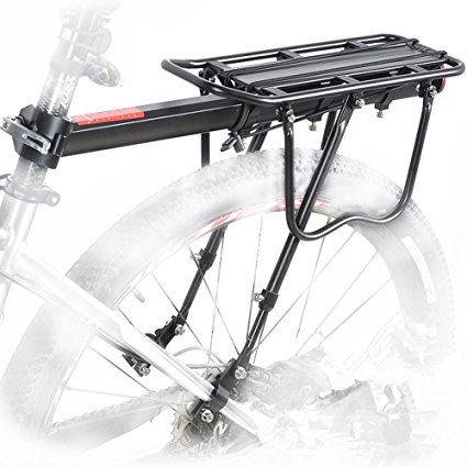 Metal Bicycle Mountain Bike Rear Rack Seat Mount Pannier Luggage Carrier Up30KG