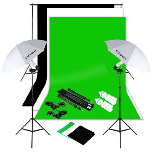CRAPHY Green Screen Lighting Kit