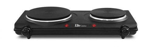 Elite Cuisine Maxi-Matic Electric Double Burner - Portable Electric Stove Top