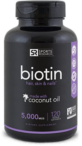 Biotin 120 Mini-Veggie Soft Gel Coconut Oil Capsules