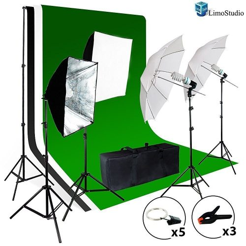 LimoStudio Green Backdrop Equipment-green screen kits