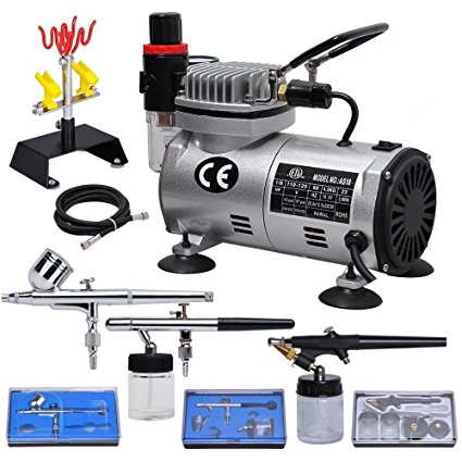 Professional Dual Action Airbrush Kit