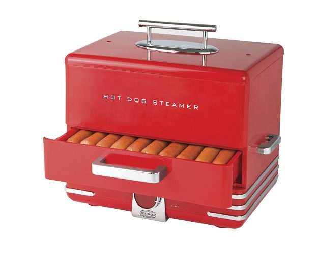 Nostalgia Extra Large Diner Hot Dog Steamer