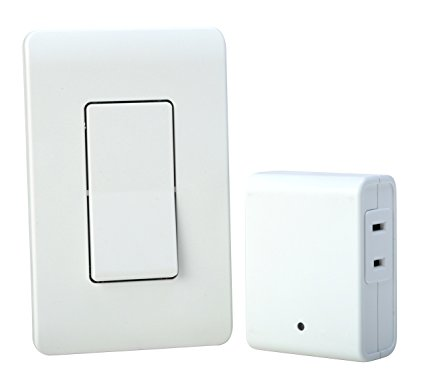 Woods Remote Control with Wall Light Switch