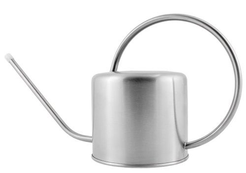 Deluxe Brushed Stainless Steel Watering Can