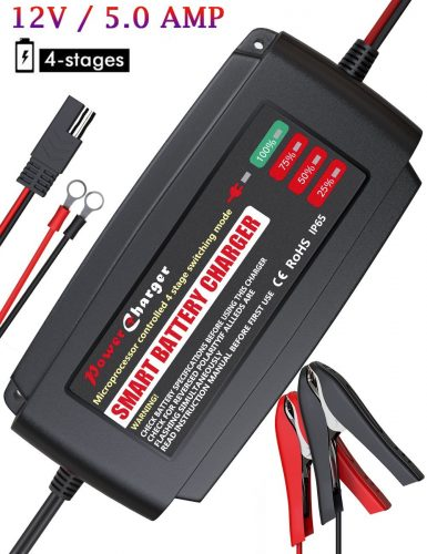 BMK 12V 5 Amp Battery Charger