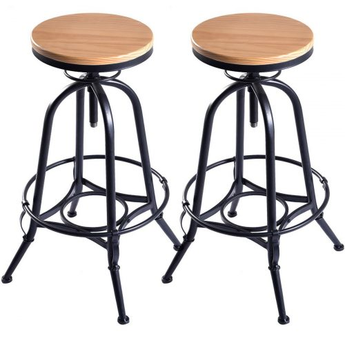 COSTWAY Vintage Bar Stool - adjustable bar stools