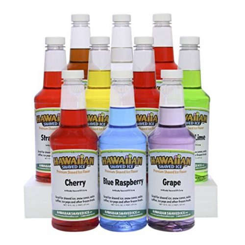 Hawaiian Shaved Ice 10 Flavor Pack - snow cone syrups