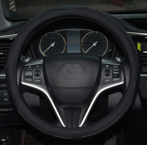 Leather Steering Wheel Cover from Rueesh
