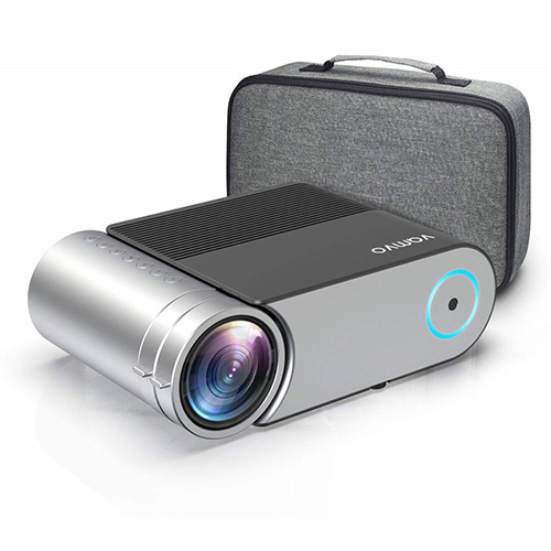 """Mini Projector, Vamvo L4200 Portable Video Projector, Full HD 1080P 200"""" Display Supported; Outdoor Movie Projector 3800 Lux with 50,000 Hrs, Compatible with Fire TV Stick, PS4, HDMI, VGA, AV, and USB"""