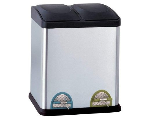 Organize It All Dual Compartment Trash Can