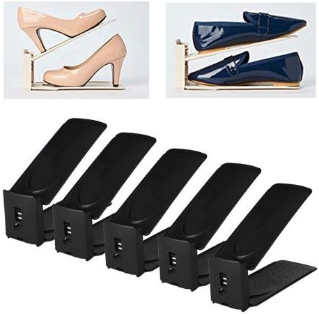 HARRA HOME Adjustable Shoe Rack