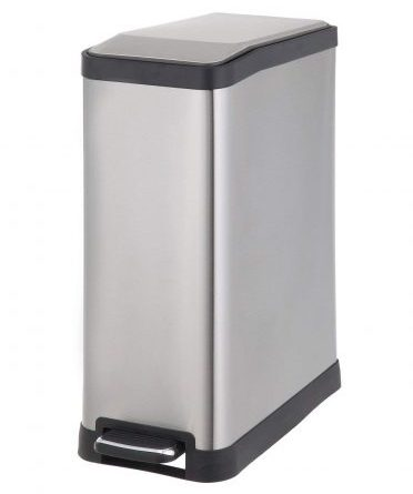 Home Zone Rectangular Step Trash Can