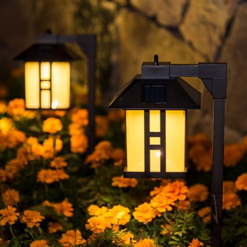 GIGALUMI Lantern Outdoor Solar Path Lights