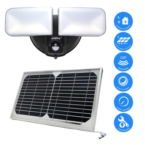 eLEDing Solar Powered Spotlight - outdoor solar spotlight