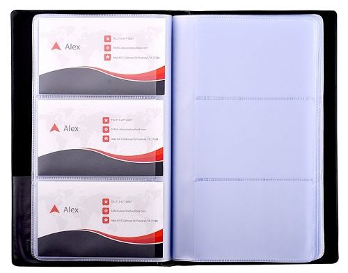MaxGear Business Card Book Holder