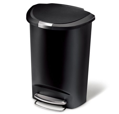 Simple Human Semi-Round Kitchen Trashcan