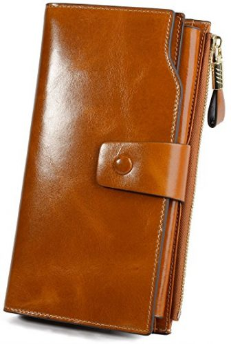YALUXE Women's Leather Clutch Wallet
