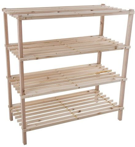 Lavish Home Wood Shoe Rack