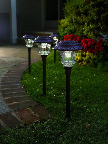 Plow & Hearth Solar Path Lights - outdoor solar path lights