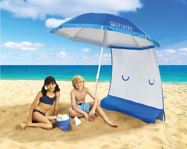 ezShade Beach Umbrella with Sunshield