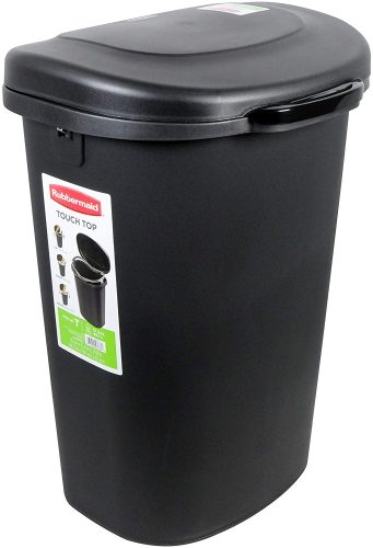 Rubbermaid Spring-Top Wastebasket