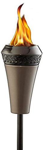 Island King Large Flame Tiki Torch - Outdoor Tiki Torches