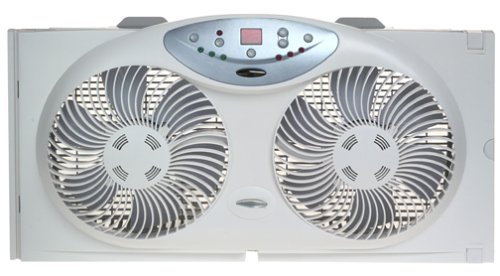 Bionaire Twin Window Fan with Remote Control