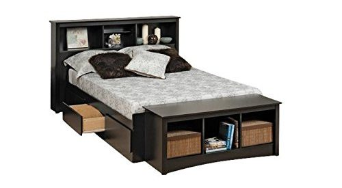 Bowery Hill Bookcase Platform Storage Bed